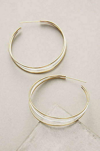 Tri-Strand Hoop Earrings