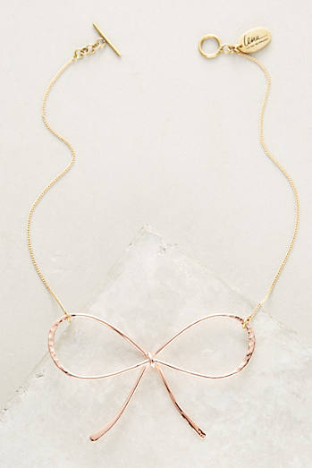 Rose Bow Necklace
