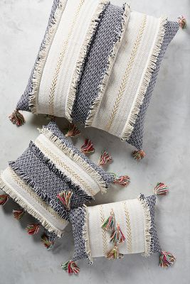 Tasseled Retrograde Pillow Anthropologie