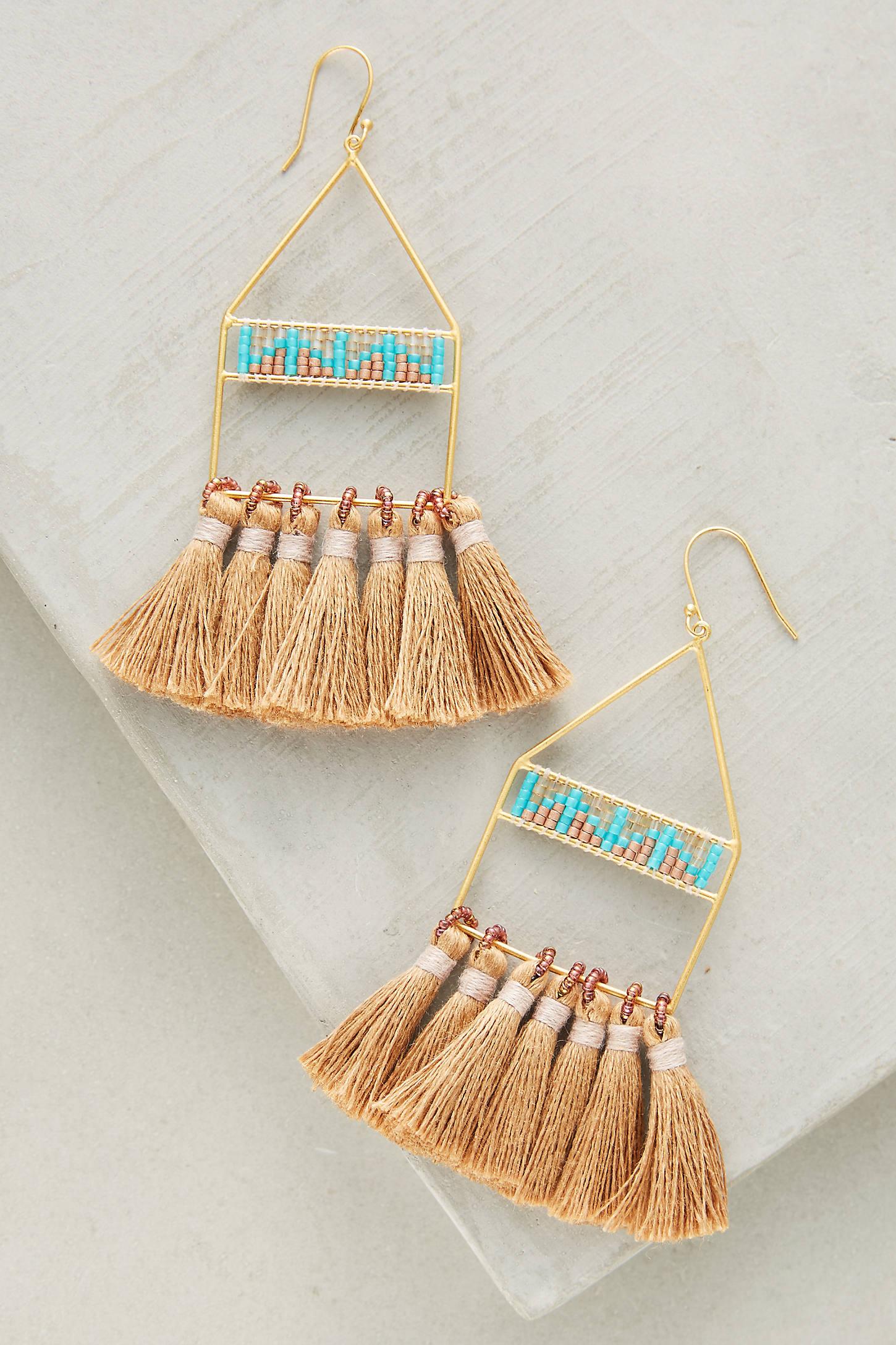 Luce Tassel Drop Earrings