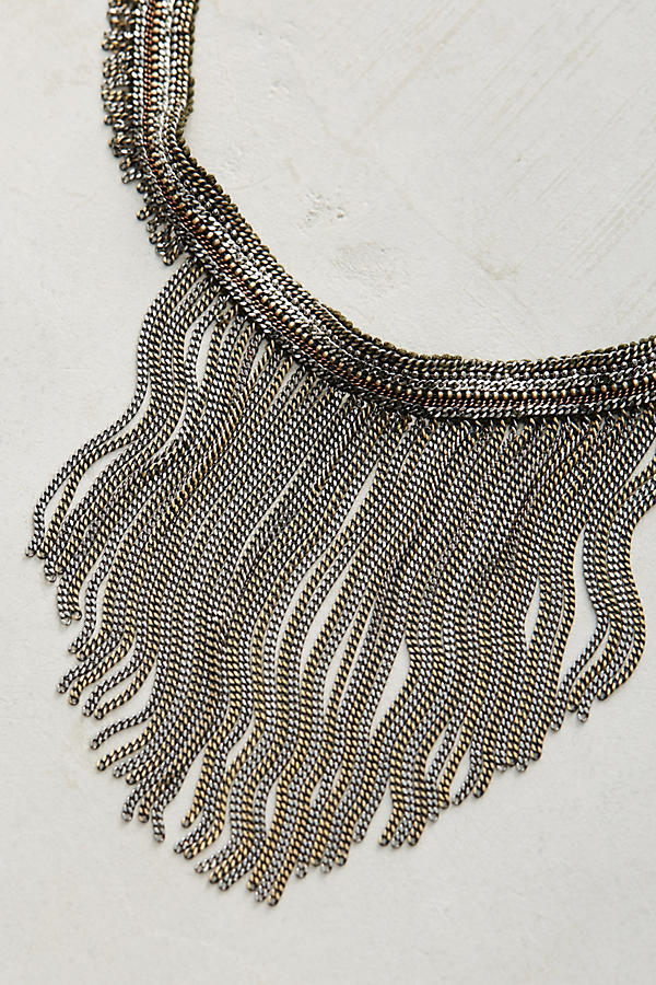 Slide View: 2: Attia Beaded Fringe Necklace