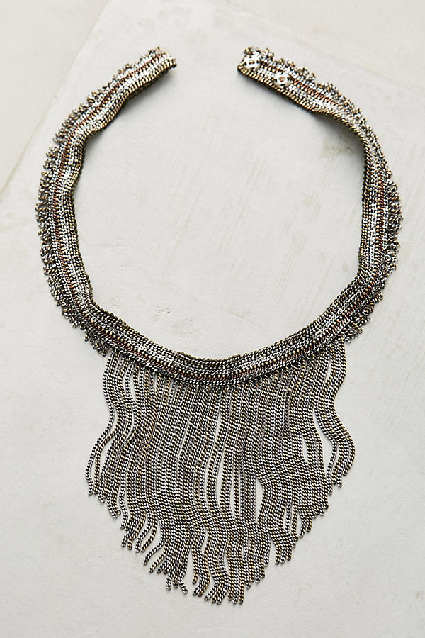 Slide View: 1: Attia Beaded Fringe Necklace