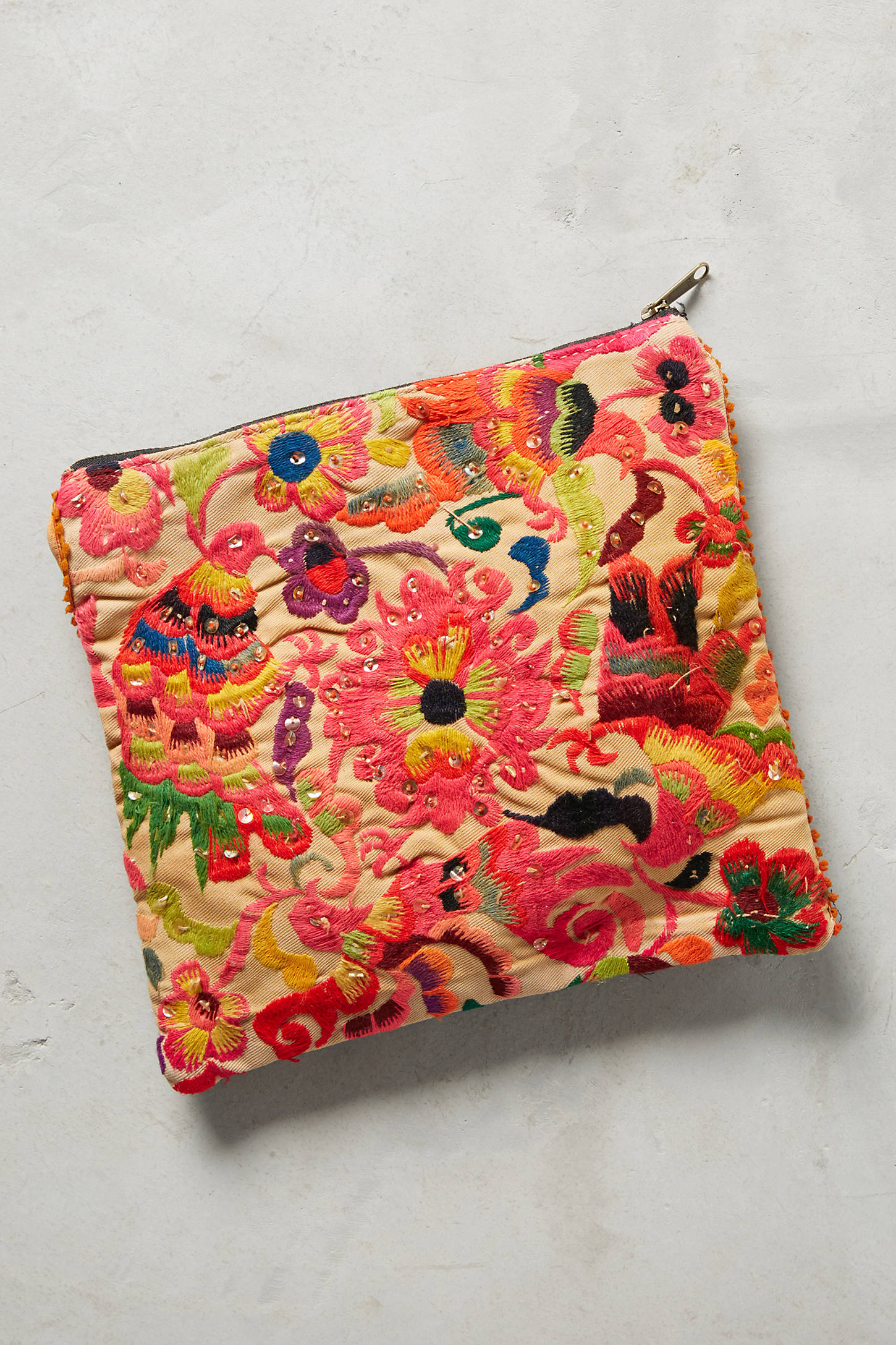 Embroidered Whitney Pouch