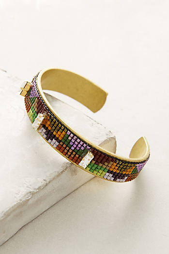 Inversion Beaded Cuff Bracelet