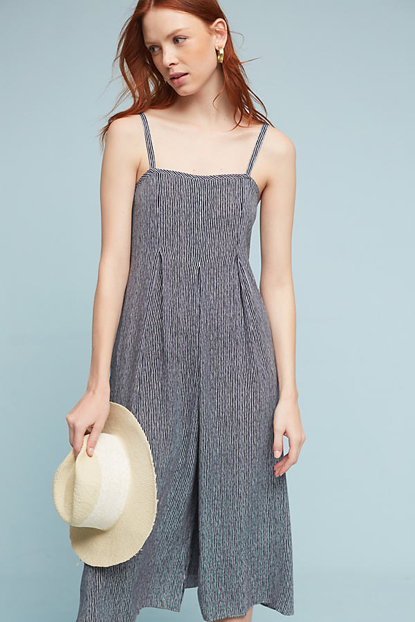 Faye Striped Jumpsuit, Blue - Neutral Motif, Size S