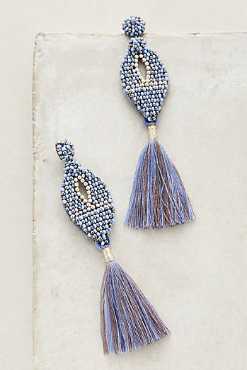 Ekta Statement Fringe Drop Earrings