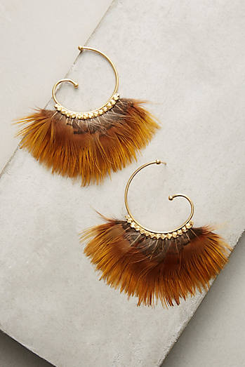 Sunrise Feather Hoops