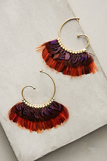 Rouge Feather Hoops