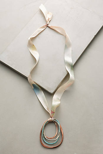 Marbled Metals Pendant Necklace