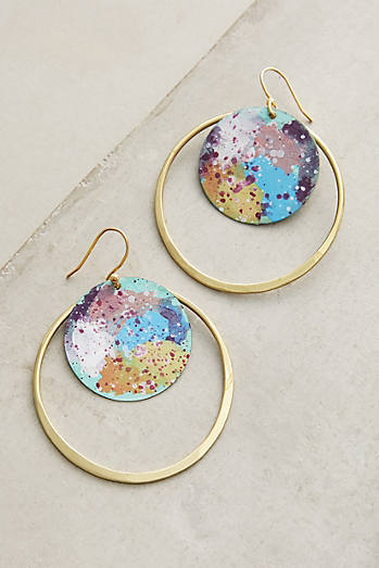 Galactic Hoop Earrings