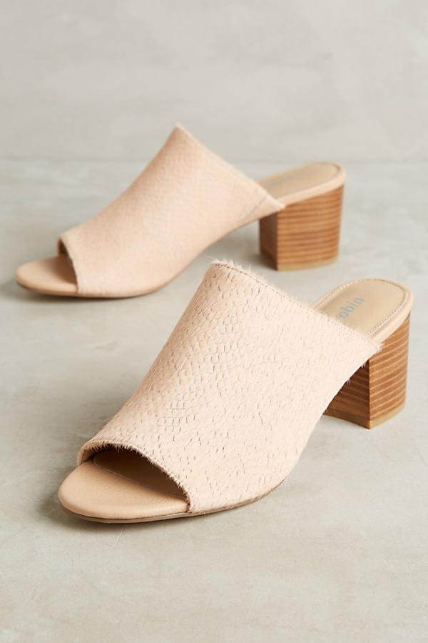 Rhoda Calf-Hair Heels - Pink, Size 8.