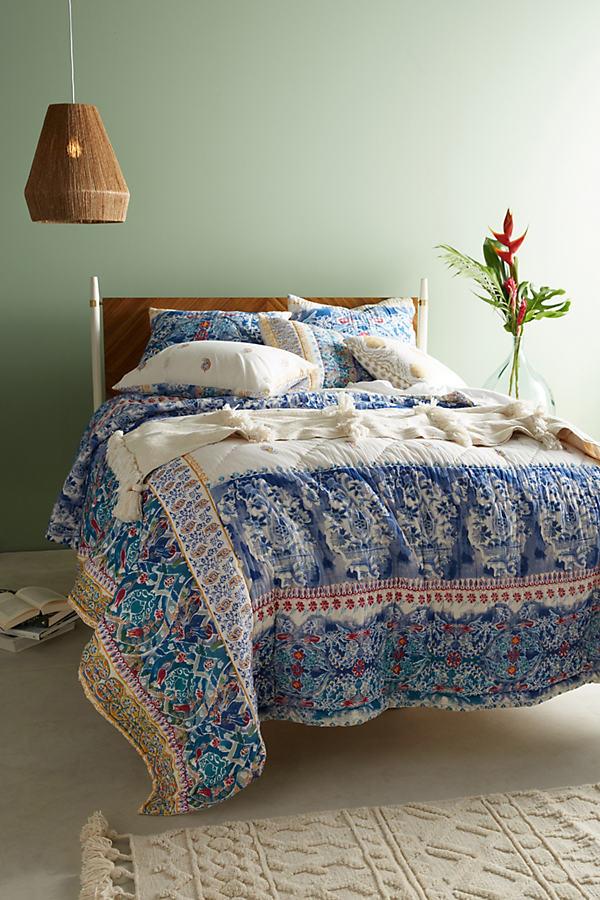 Emari Square Pillowcase - Turquoise, Size Squar Sham