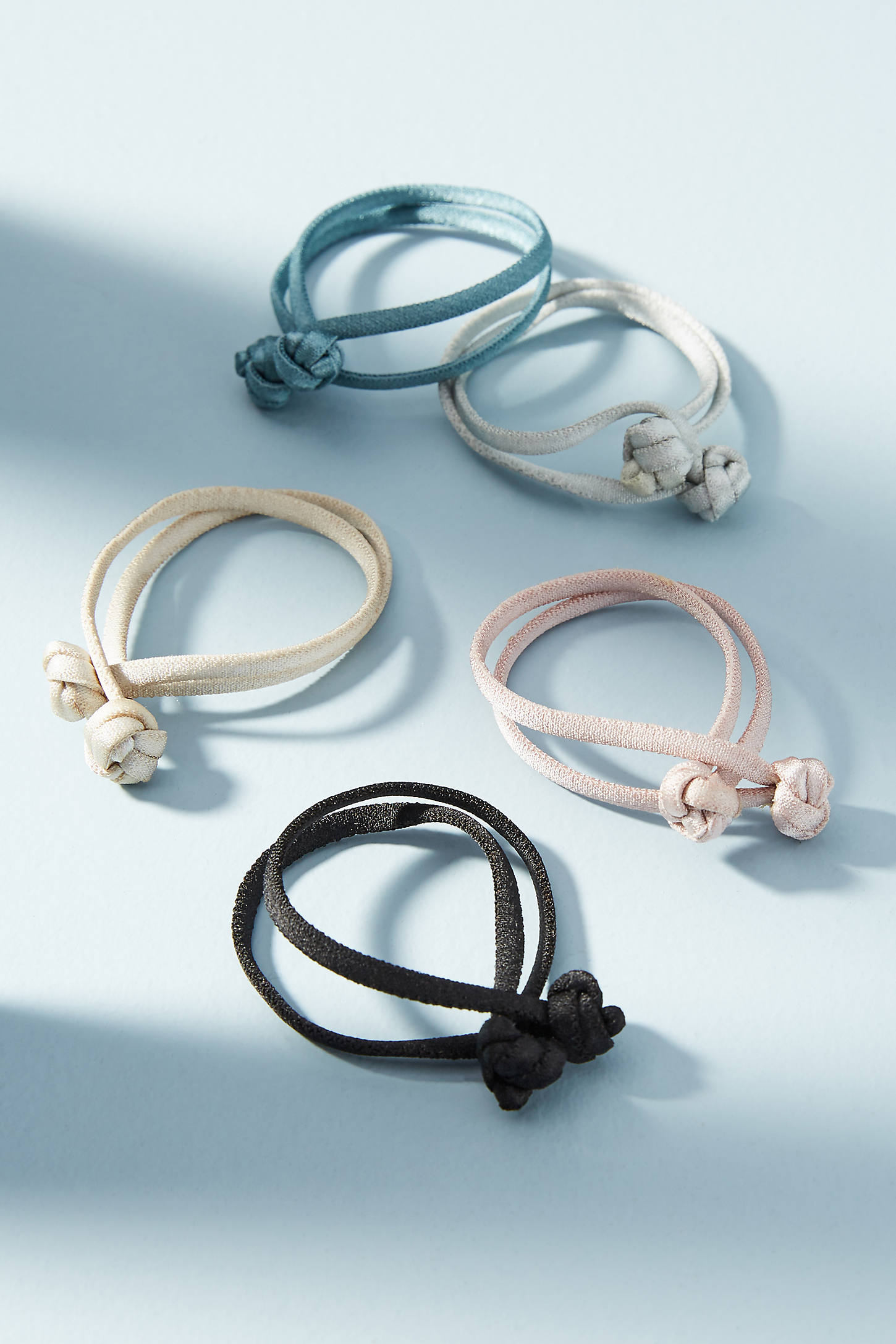 Knotted Satin Hair Tie Set