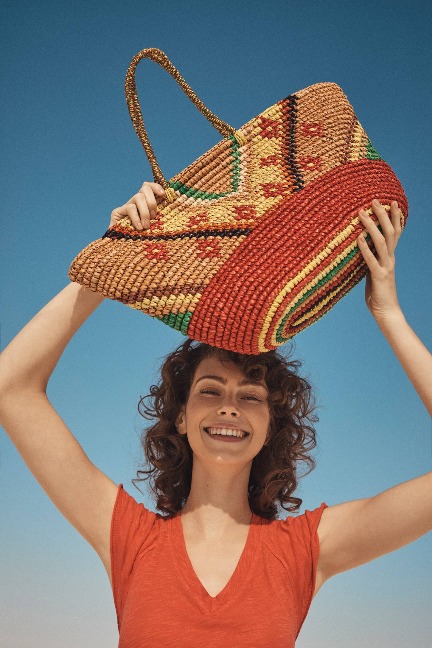 Slide View: 4: Frayed Sunshine Straw Tote