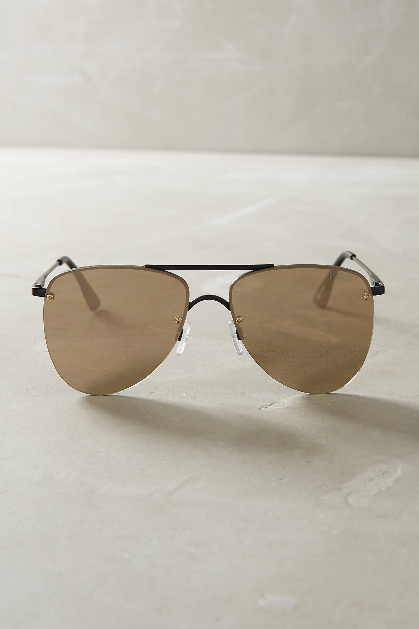 Le Specs The Prince Mirrored Aviator Sunglasses