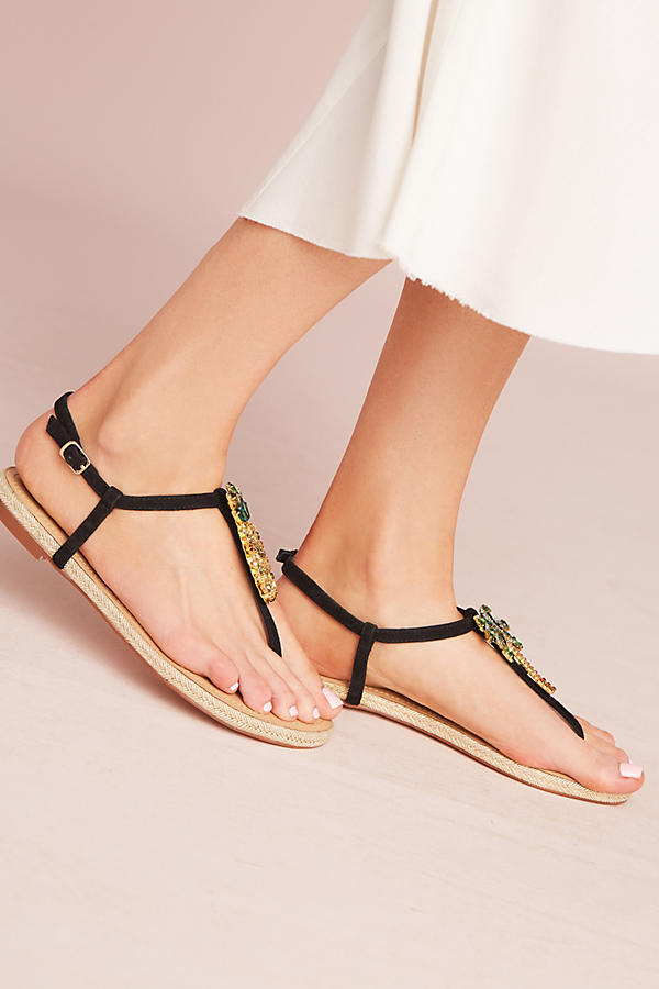 Slide View: 2: Bibi Lou Pinapple Palm Sandals