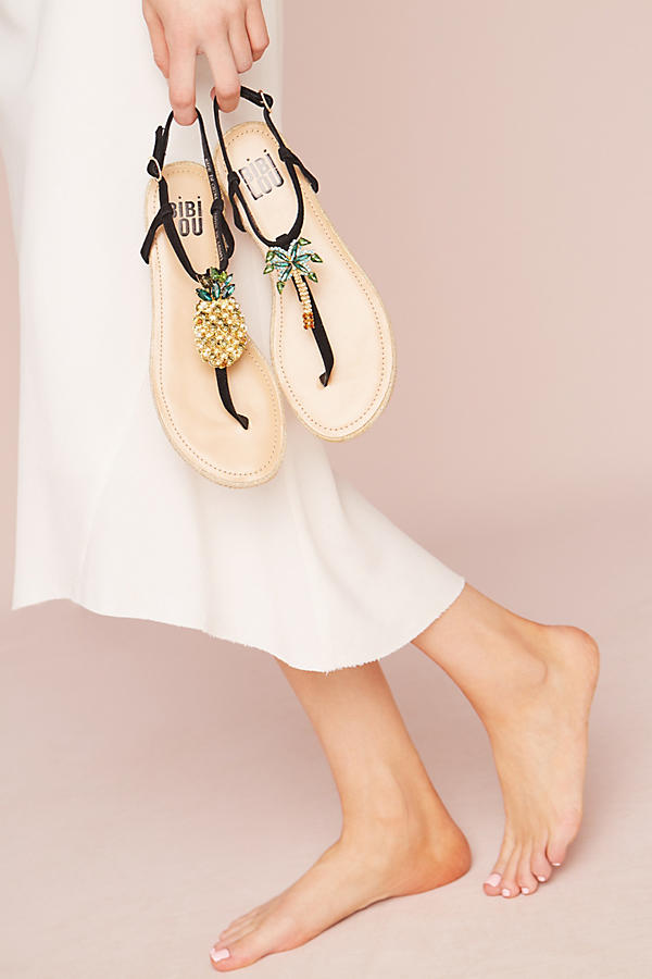Slide View: 5: Bibi Lou Pinapple Palm Sandals