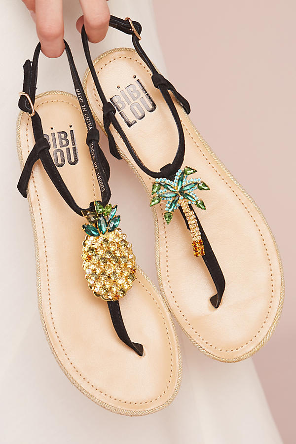 Slide View: 1: Bibi Lou Pinapple Palm Sandals