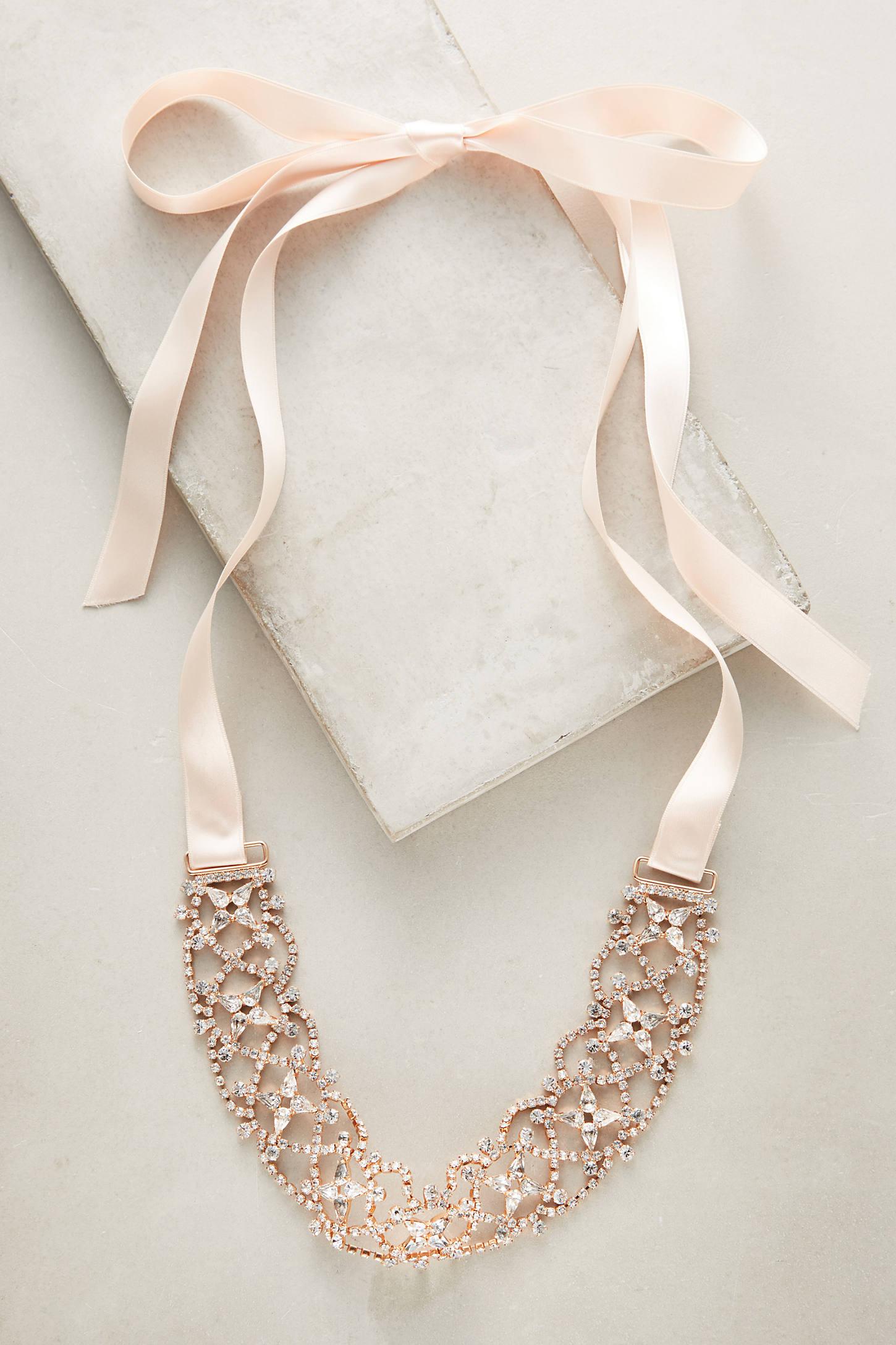 Rose Ribbon Choker Necklace