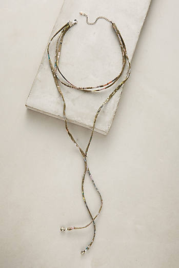 Layered Pyrite Choker Necklace