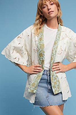 Slide View: 1: Structured Lace Kimono