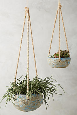 Slide View: 1: Handpainted Hanging Planter
