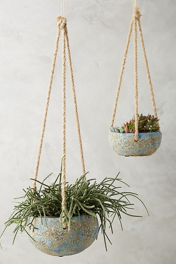Handpainted Hanging Planter Anthropologie
