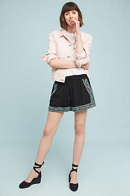 Slide View: 1: Pathway Embroidered Shorts