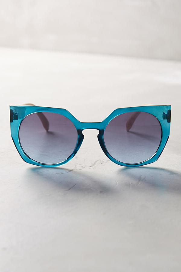 Angular Sunglasses - Green