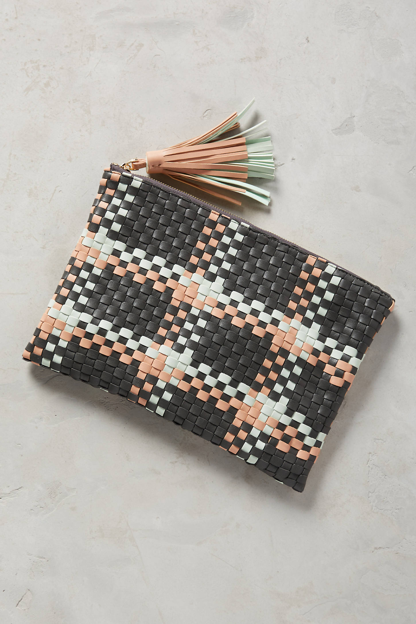 Woven Paloma Clutch