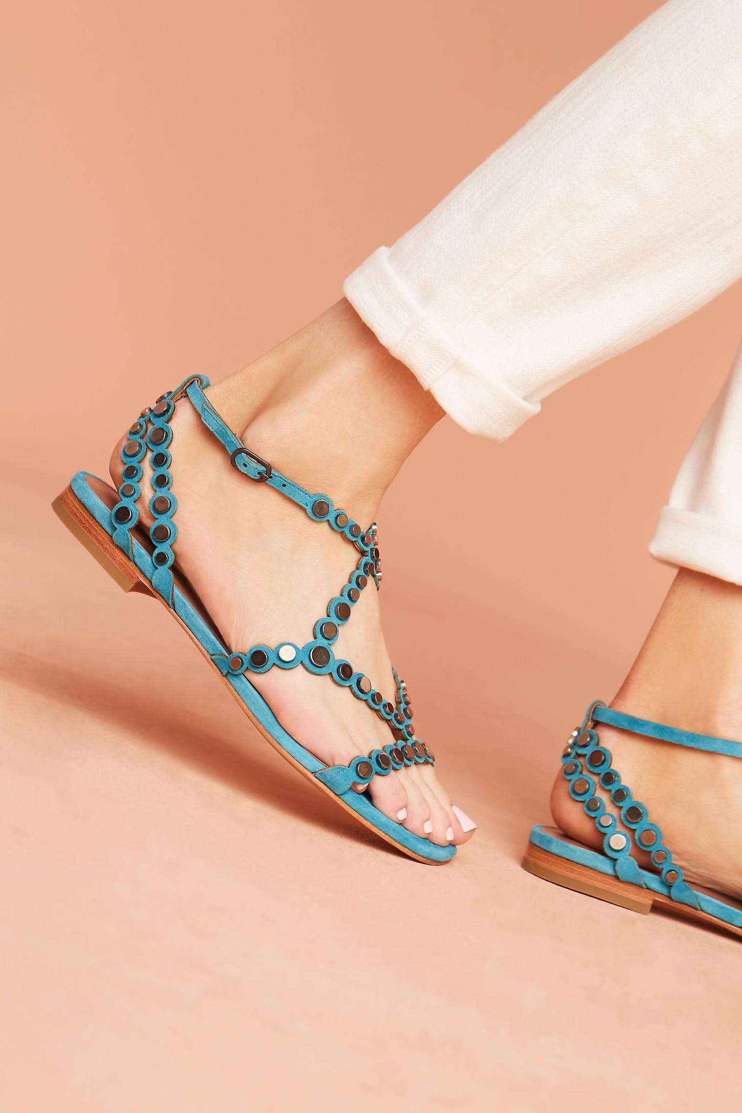 Lola Cruz Smile Gladiator Sandals