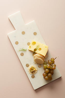 Slide View: 1: Dotted Brass Inlay Cheese Board
