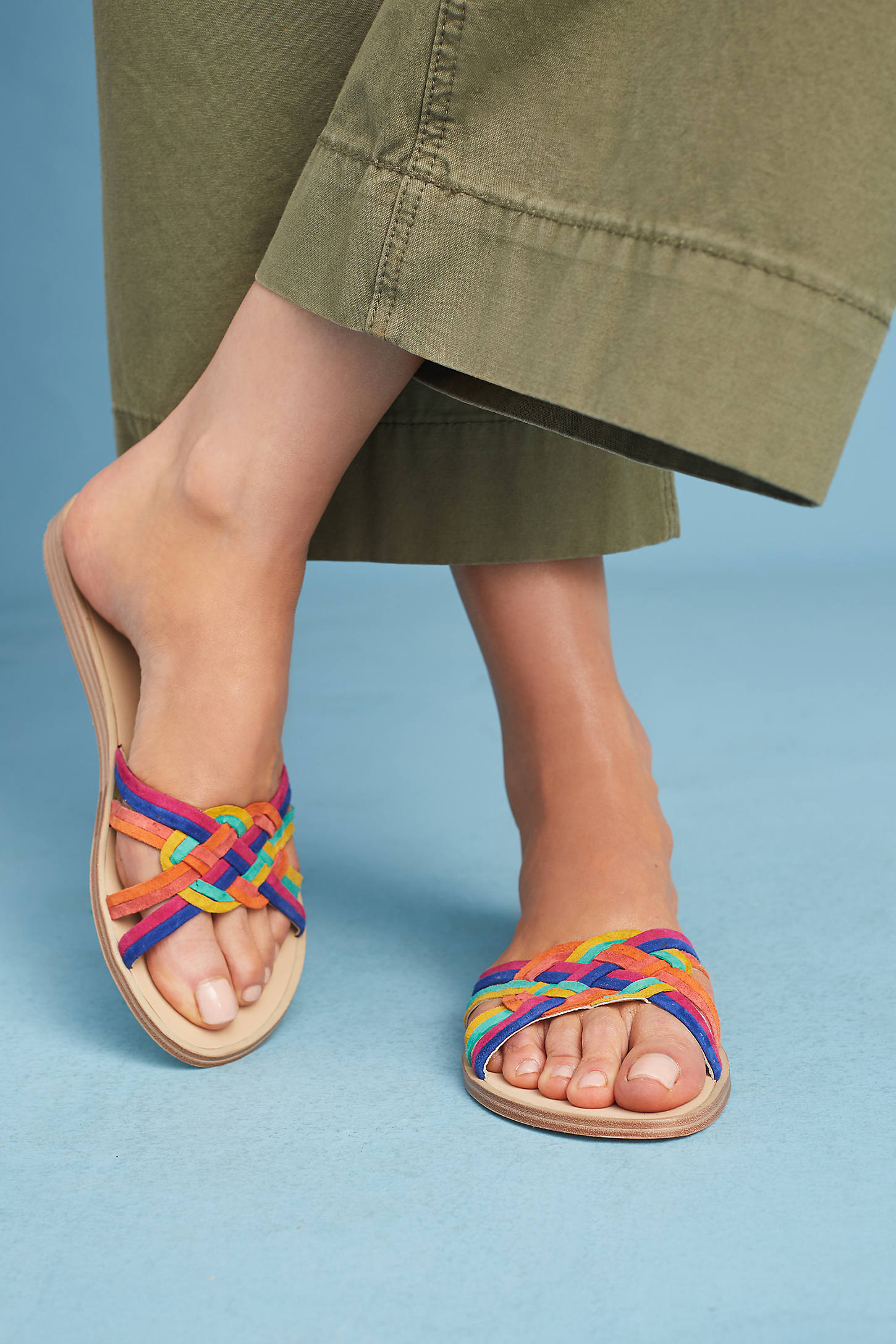 Matiko April Woven Slide Sandals