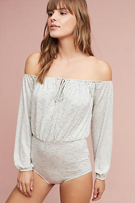 Slide View: 1: Felicia Off-The-Shoulder Bodysuit