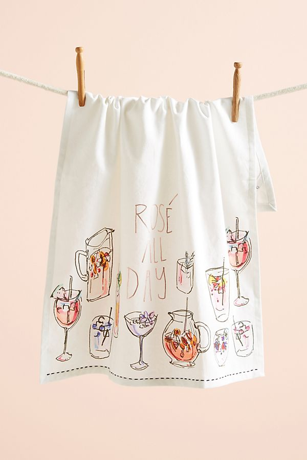Slide View 1 Rosé All Day Dish Towel
