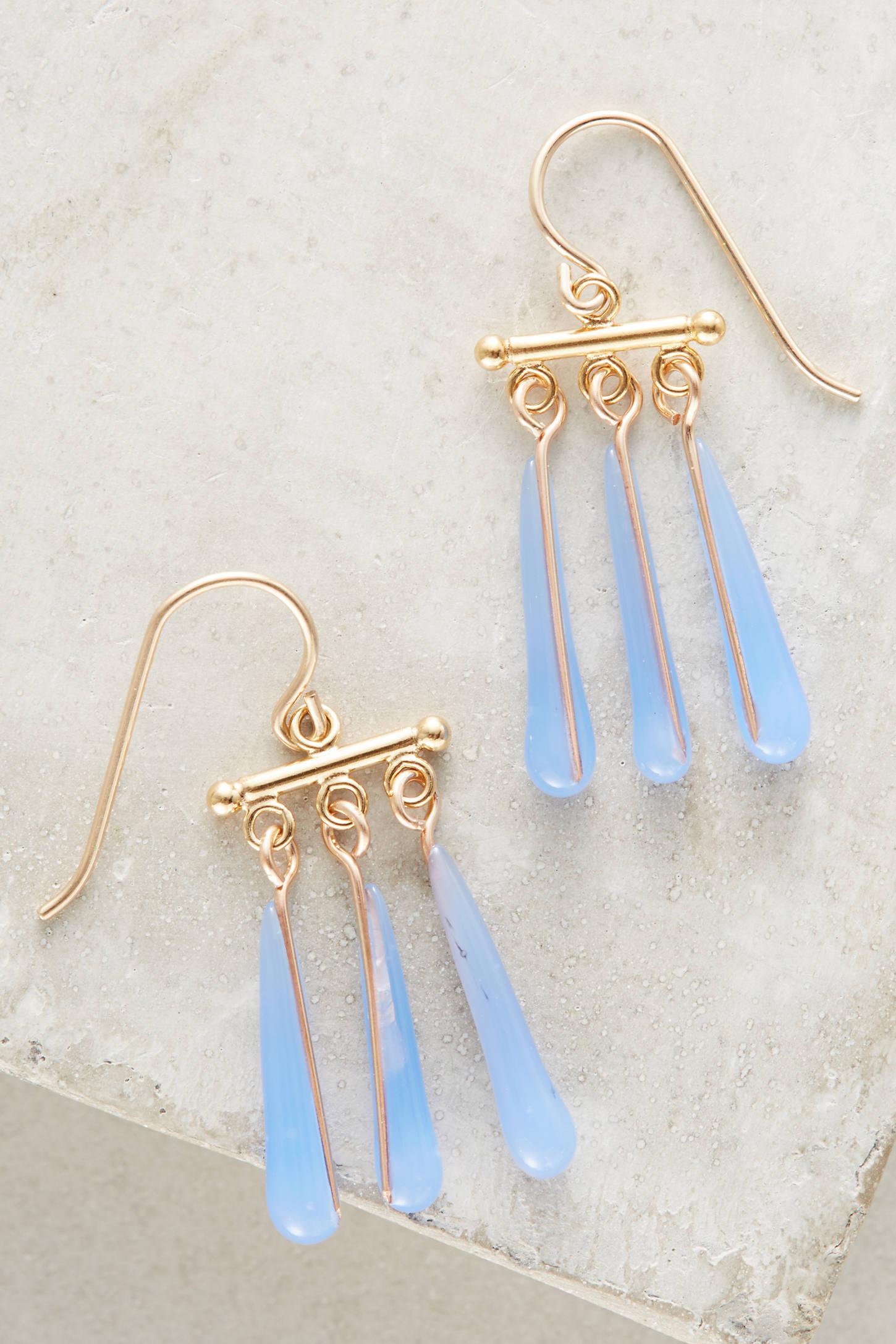 Plume Drop Earrings