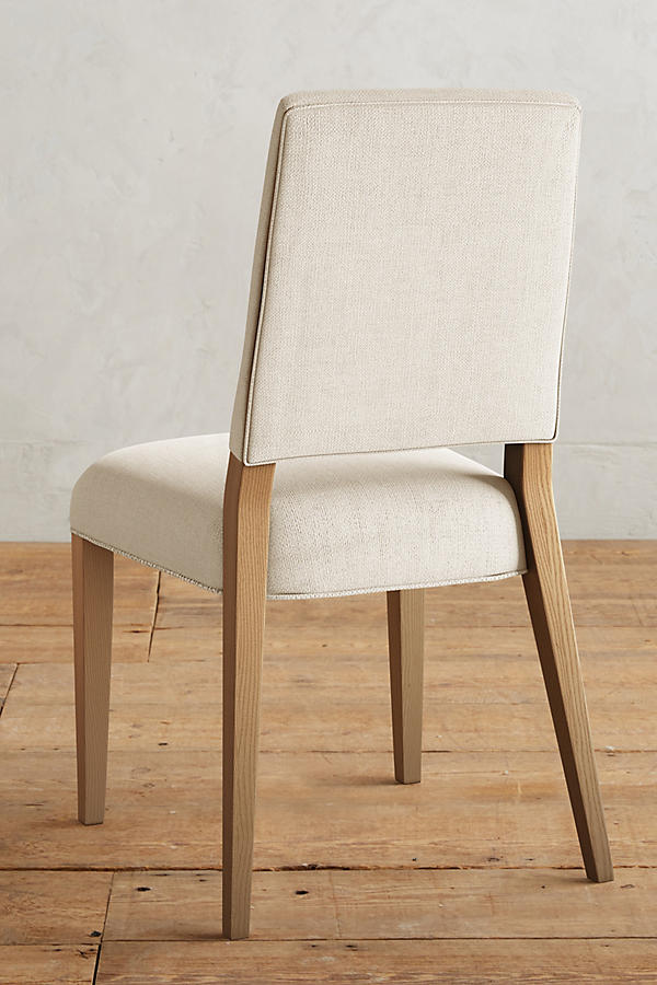 Slide View: 2: Basketweave Linen Farwood Chair