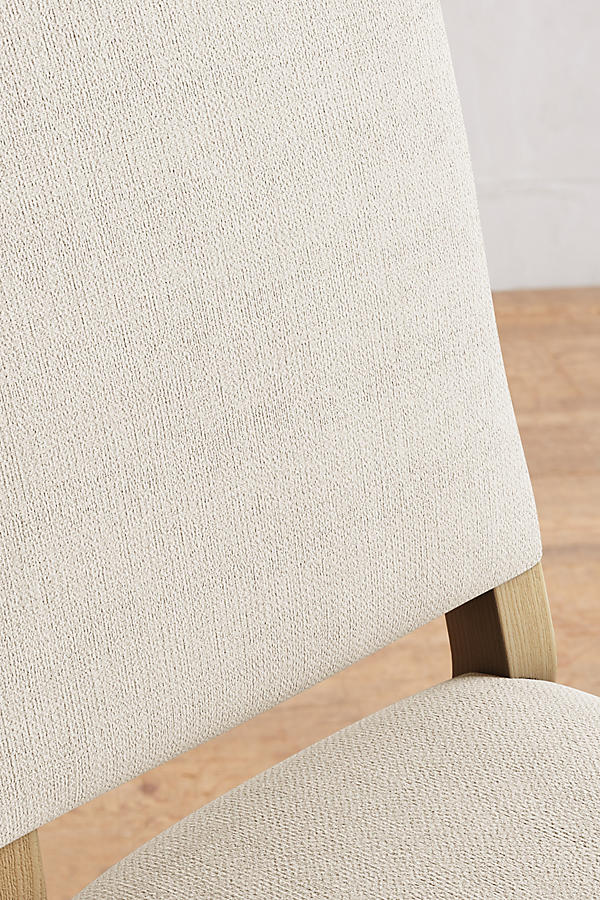 Slide View: 3: Basketweave Linen Farwood Chair