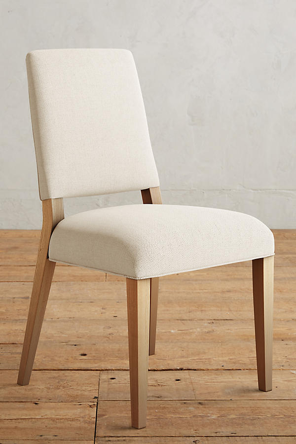 Slide View: 1: Basketweave Linen Farwood Chair