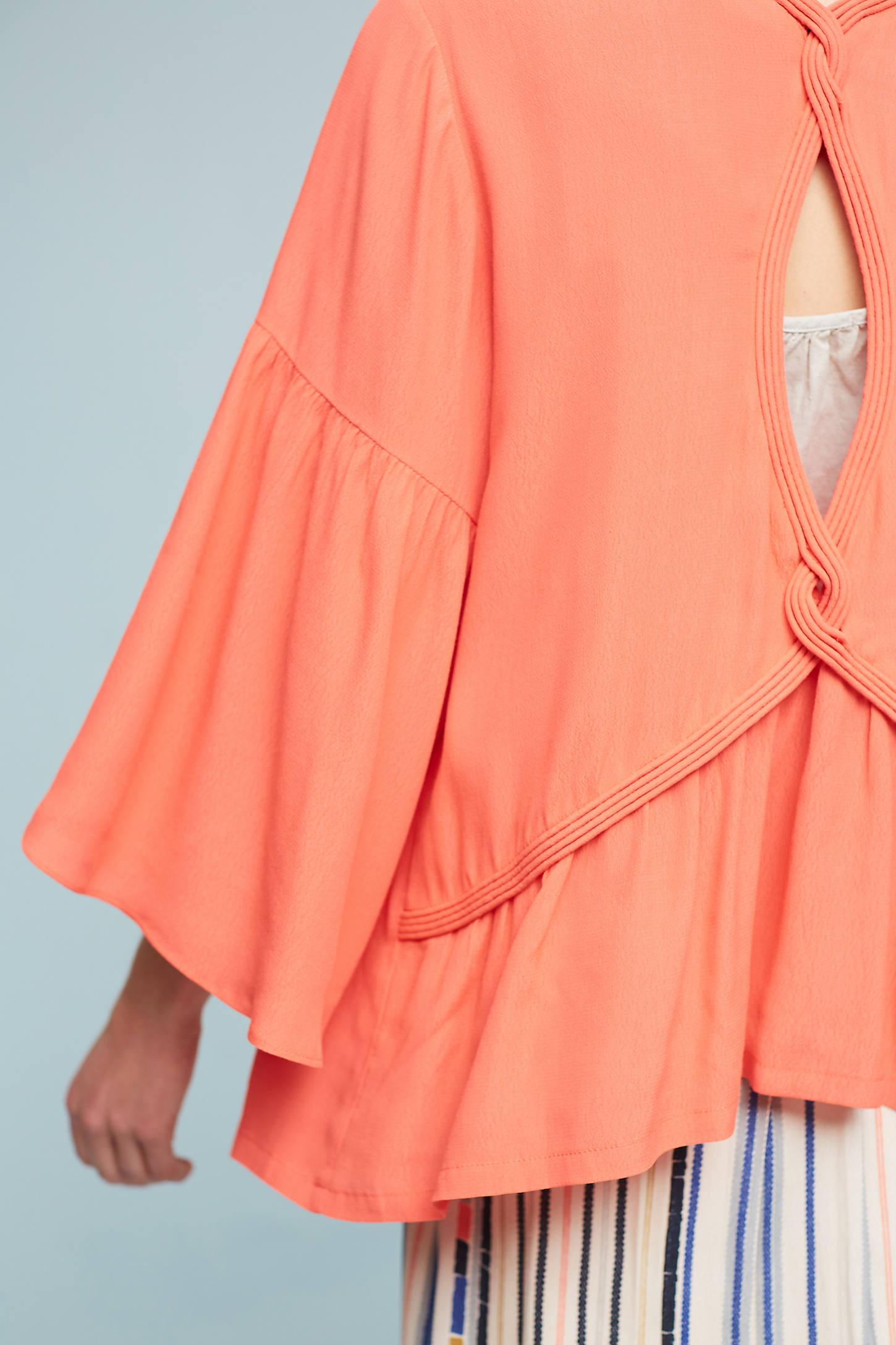 Ruffled-Sleeve Kimono