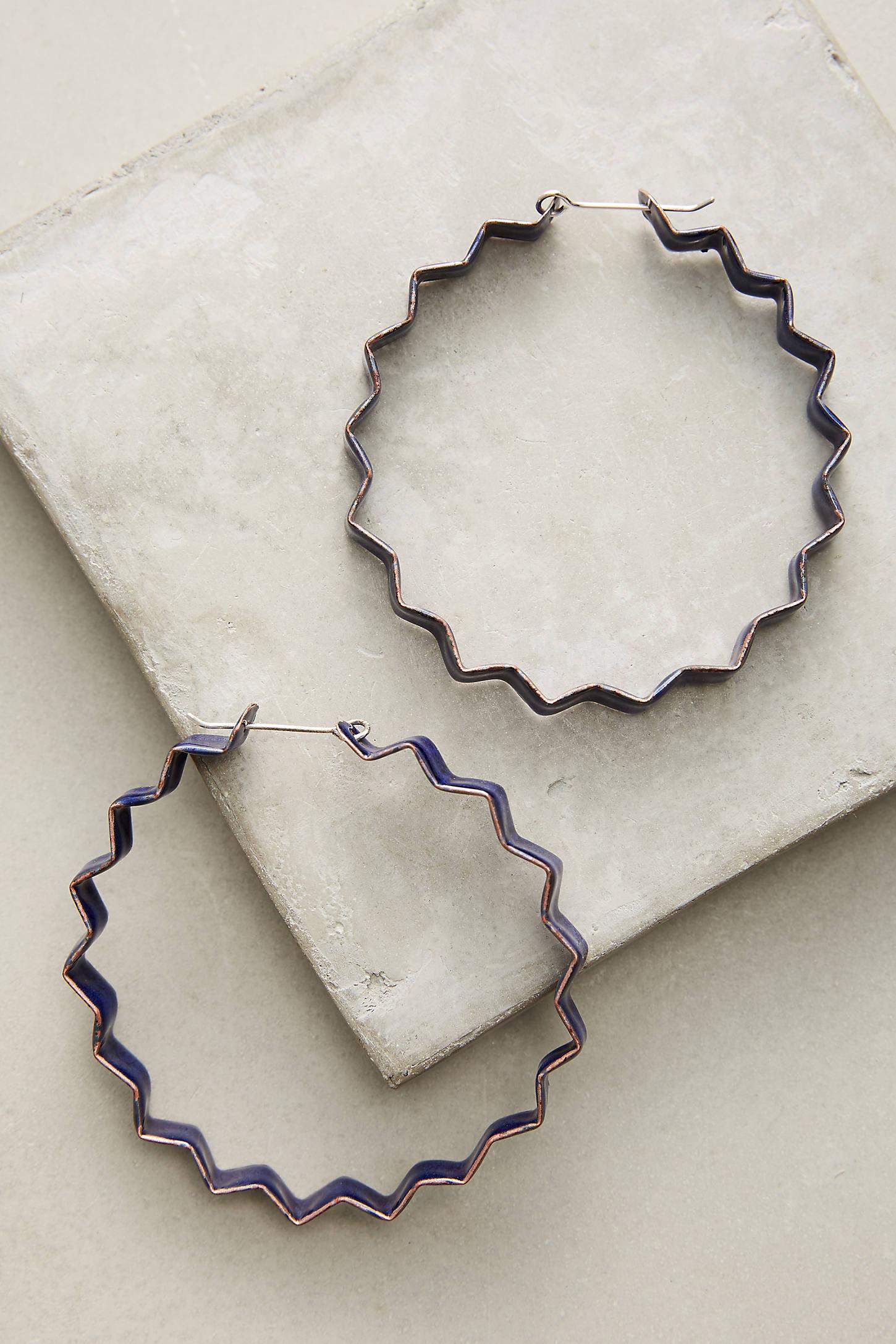 Crinkle Hoop Earrings