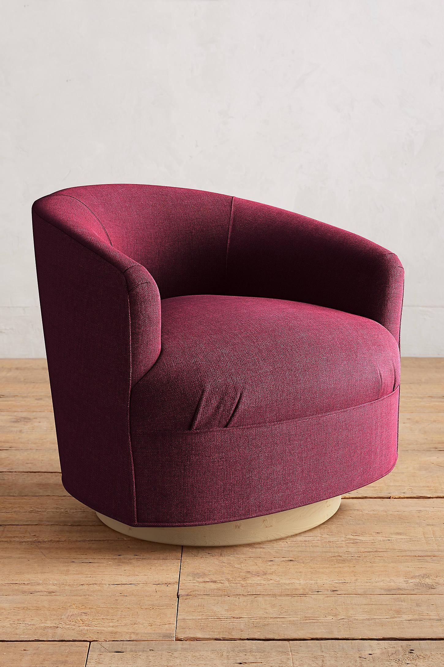 Basketweave Linen Amoret Swivel Chair