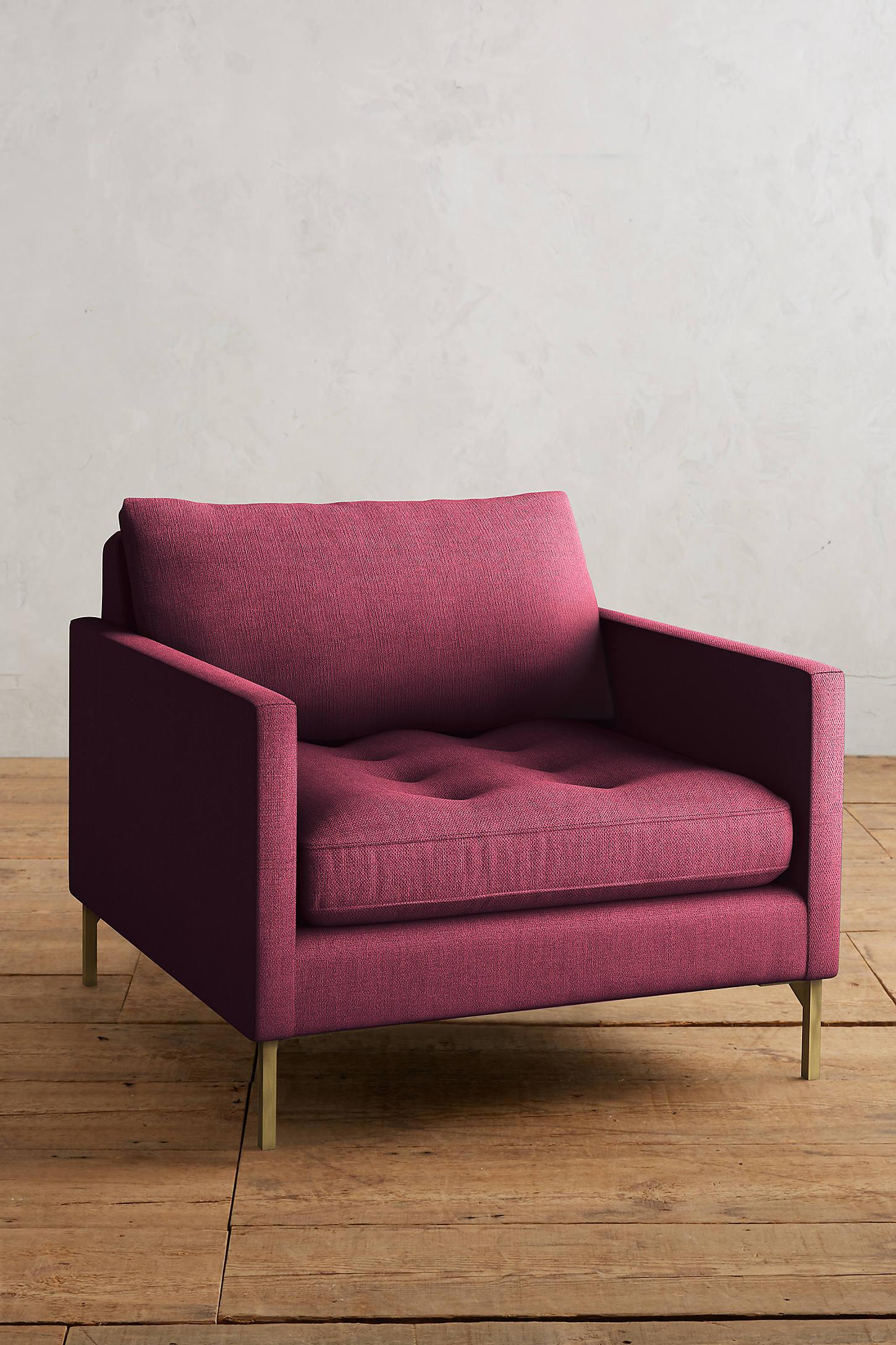 Basketweave Linen Angelina Chair