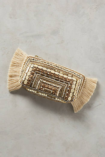 Beaded Fringe Clutch