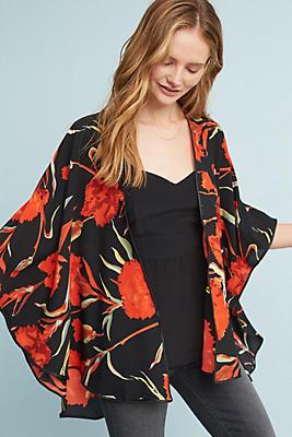 Slide View: 1: Red Roses Kimono