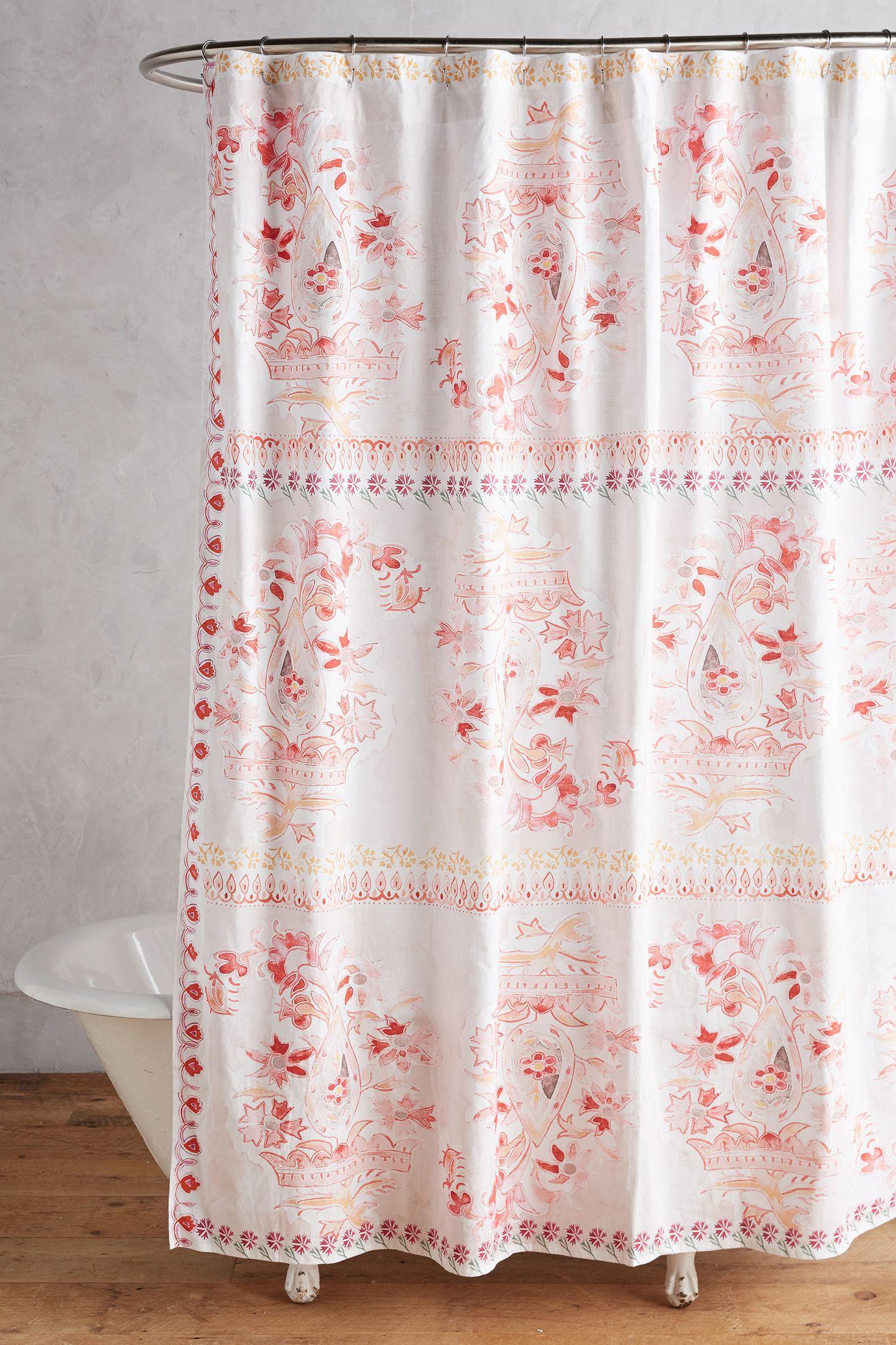 Anthropologie floral shower curtain - Anthropologie Floral Shower Curtain 55