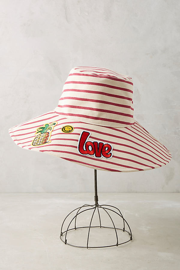 Upbeat Reversible Sun Hat - Bright Red