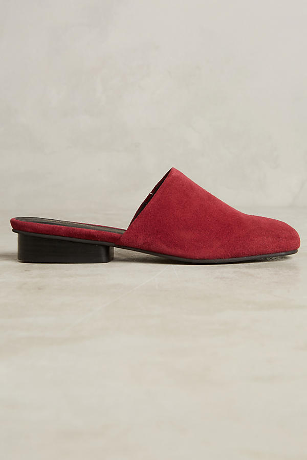 Slide View: 2: Intentionally Blank Suede Slides