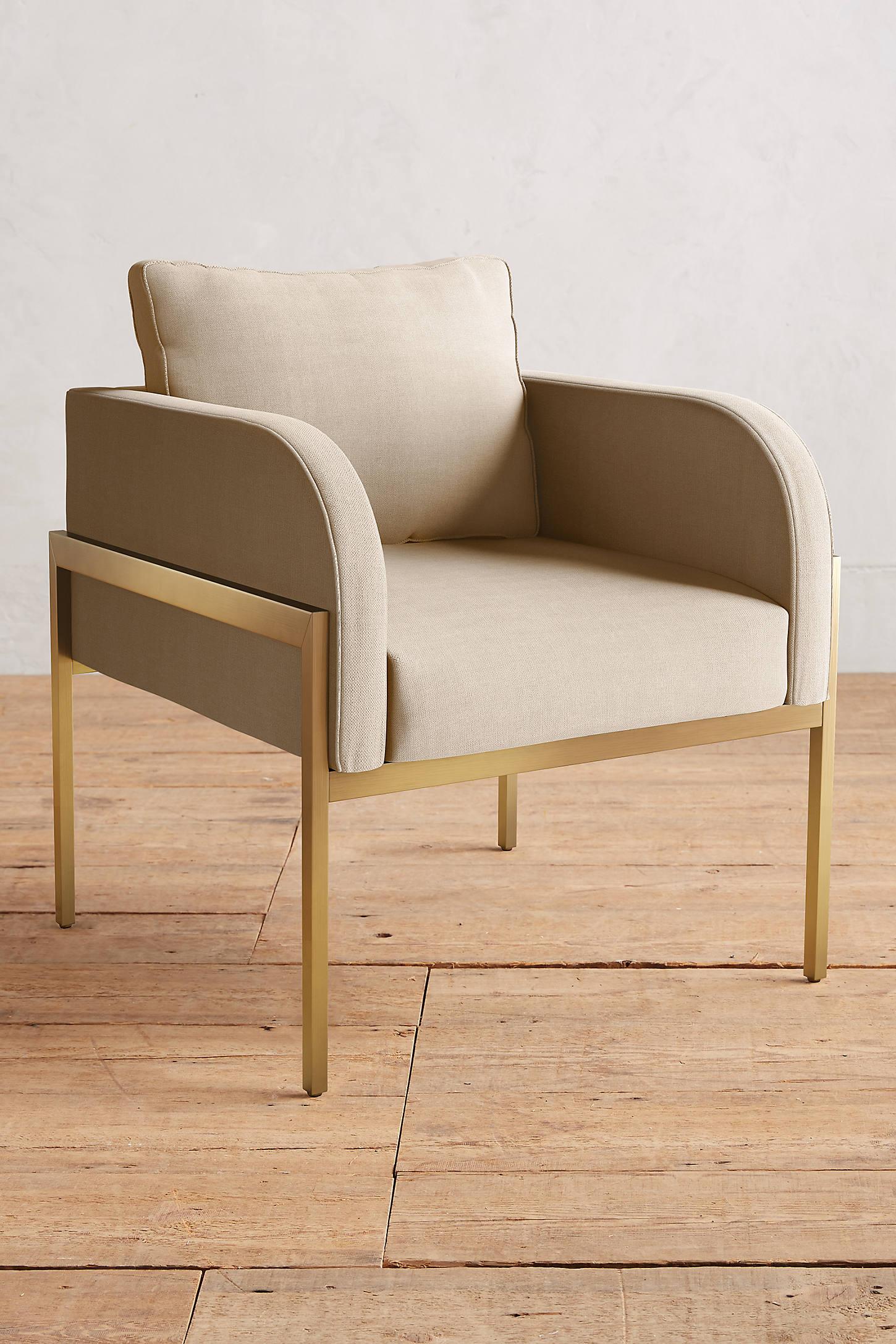Basketweave Linen Ardmore Chair