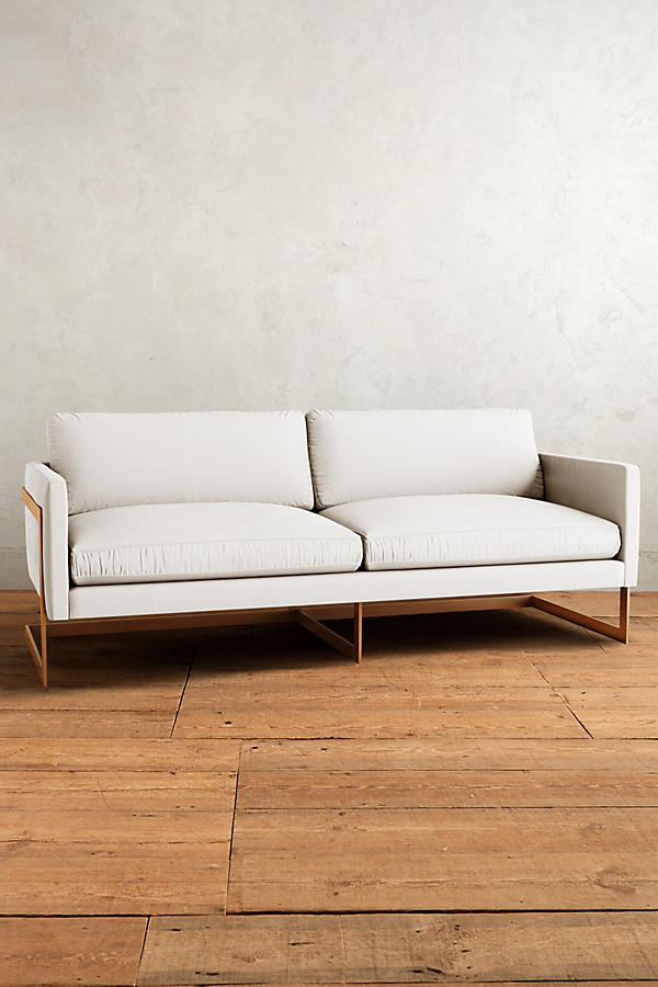 Slide View: 1: Belgian Linen Meredith Sofa